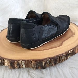 Frye slip on leather sneakers